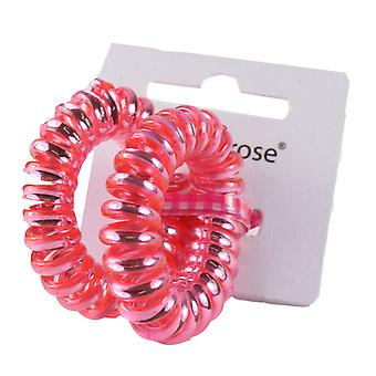 Molly & Rose Plastic Spiral Hair Bobble Dark Pink 2 Pack