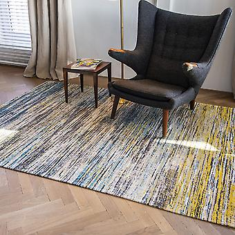 Sari Collection Rugs 8873 In Blue Yellow Mix