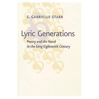 Lyrische Generationen: Poesie und der Roman im langen 18. Jahrhundert