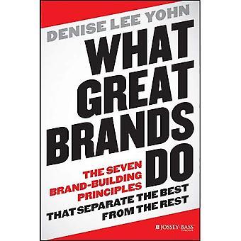 O que grandes marcas: Os sete princípios de construção de marca que separam o melhor do resto