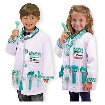 Childrens Melissa en Doug dokter Fancy Dress kostuum