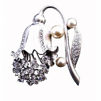 Lamp Flower Shaped Bridesmaid Brooch Fully Embedded with Diamante