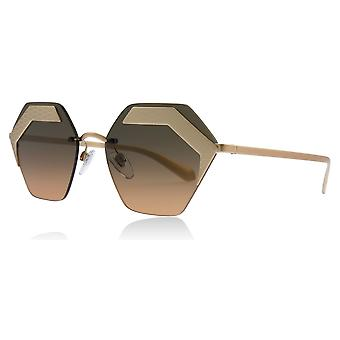 Bvlgari BV6103 201318 Matte lyserød / guld BV6103 Butterfly solbriller linse kategori 2 størrelse 57mm