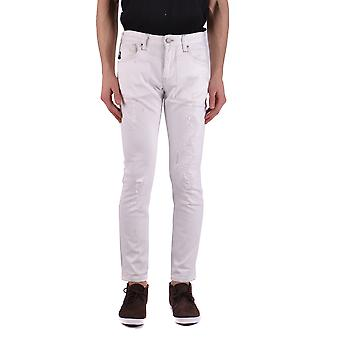 Armani Jeans White Cotton Jeans