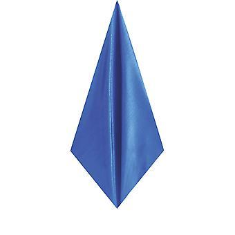 Mouchoir de poche Dobell Mens Royal bleu mouchoir Dupion Satin-Feel tissu