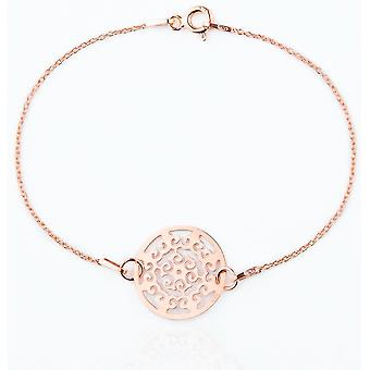 Women's Elegant Celebrity Style Layered Rose Gold Over Sterling Silver Bracelet
