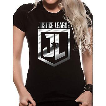 Women's Justice League Foil Logo T-Shirt