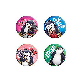 Psycho Penguin Dead Inside Badge Pack