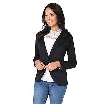 KRISP  Smart Ponte Tailored Jersey Slim Fitted Office Jacket Coat Blazer Party Summer