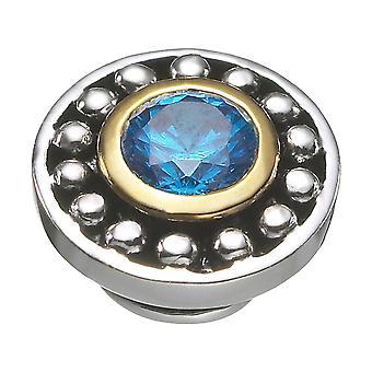 KAMELEON Celestial Blue Topaz Sterling Silver & 18k Gold JewelPop KJP392