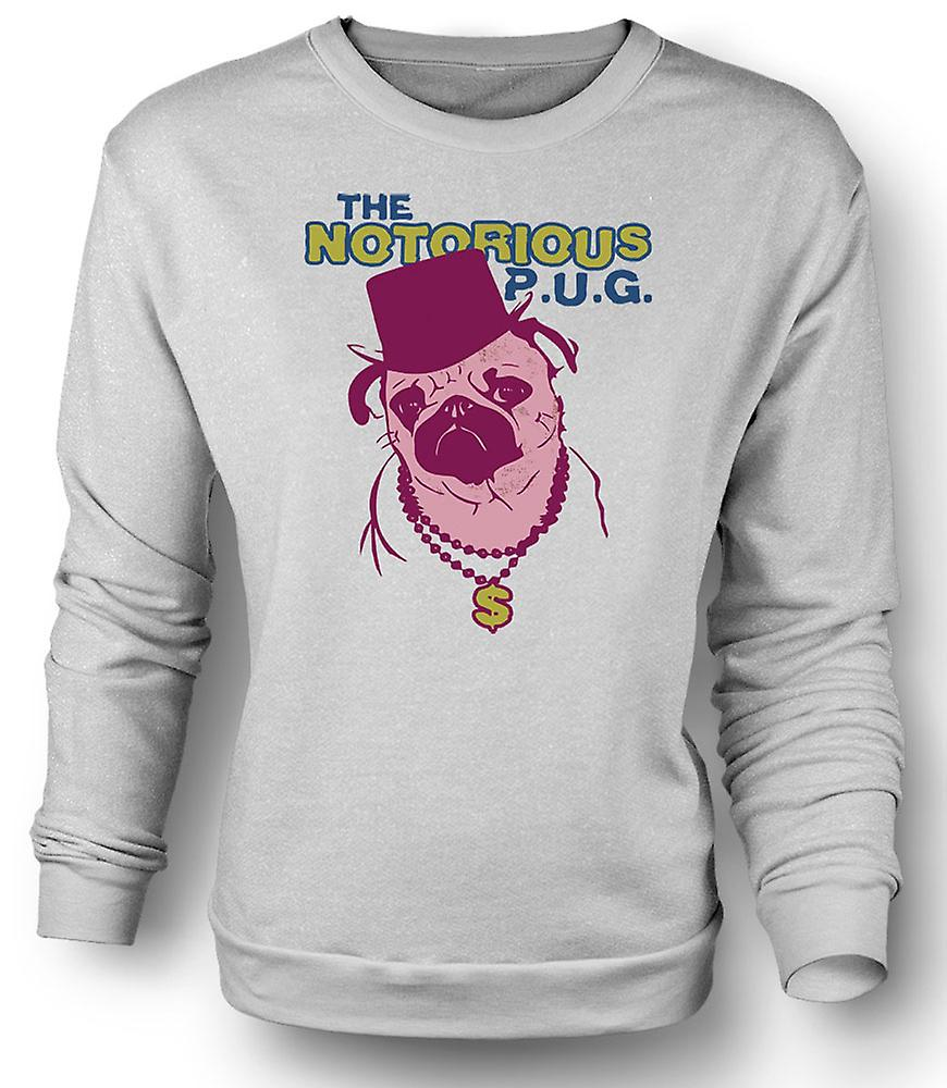 Mens Sweatshirt The Notorious Pug