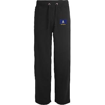 1st The Queens Dragoon Guards `TRF Veteran - Licensed British Army Embroidered Open Hem Sweatpants / Jogging Bottoms