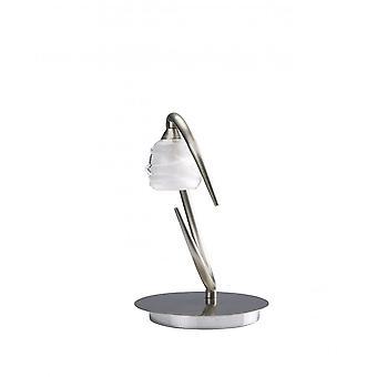 Lampe de table Mantra Loop 1 Light G9 ECO, Satin Nickel