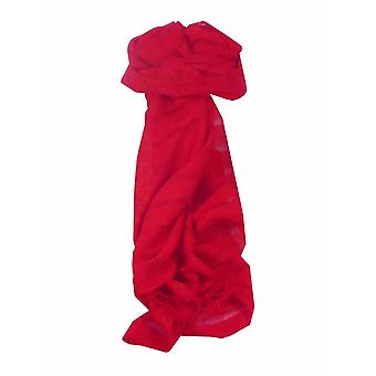 Mens Vietnamese Long Silk Scarf Hue Scarlet by Pashmina & Silk