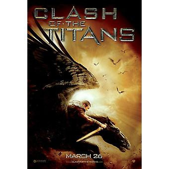 Clash Of The Titans Poster - Style B - Horse - (Sam Worthington, Liam Neeson)  Double Sided Advance Us One Sheet (2010) Original Cinema Poster