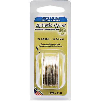 Colored Wire 22 Gauge 8 Yards Pkg Natural Non Tarnish Silver 22Awg Nts