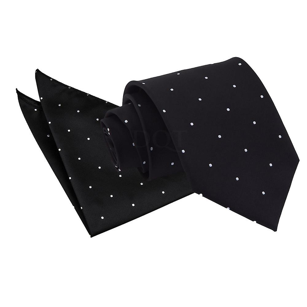 Pin Dot Black Tie 2 pc. Set