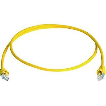 RJ49 Networks Cable CAT 6A S/FTP 50 m Yellow Flame-retardant, Halogen-free Telegärtner
