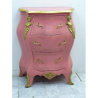 baroque chest of drawers rose / pink rococo louis pre victorian MoCoC07022