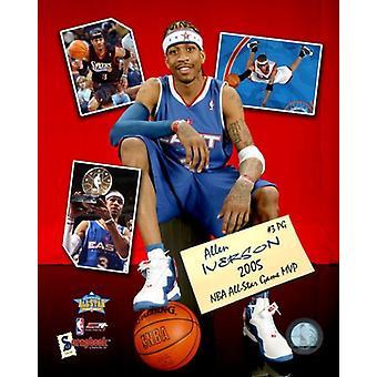 Allen Iverson - All Star Game MVP 05 Scrapbook foto afdrukken