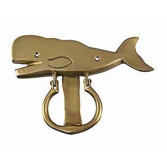 Solid Brass Sperm Whale Door Knocker