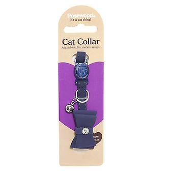 Catwalk Designer Cat Collar Bow Tie Navy (Pack of 3)