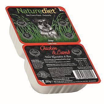 Naturediet kylling og lam med grøntsager & ris Twin Pack 280g (pakke med 18)