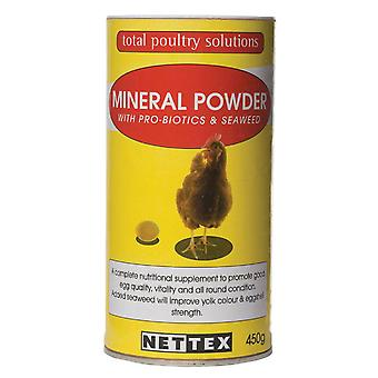 Net-tex fjerkræ Mineral pulver probiotika & Tang 450g