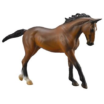 Collecta Thoroughbred mare Dark Brown - Deluxe Box 1:12