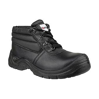 Centek FS83 Mens Safety Boots Textile Leather PU Lace Up Fastening Dual Density
