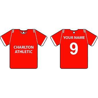 Personalised Charlton Athletic Football Shirt Car Air Freshener