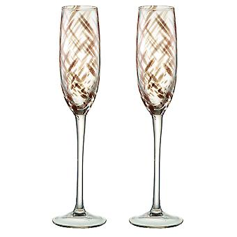 Artland Misty Bronze Champagne Flutes, Set of 2