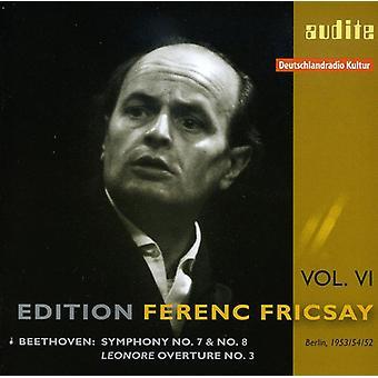 L.V. Beethoven - Beethoven: Sinfonías núms. 7 y 8; Importación de USA de Lenore obertura no. 3 [CD]