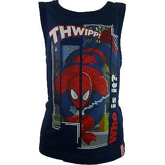 Мальчики Marvel паук без рукавов футболки / Топ