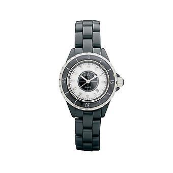 Ladies Chisel Black Ceramic Watch 3 ATM Water Resistant