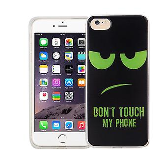 Cell phone case for Apple iPhone 7 cover case protective bag motif slim TPU + bulletproof 9 H dont touch my Phone Grün