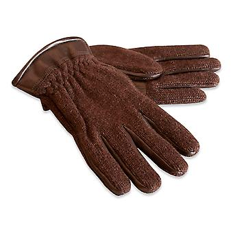 Quivano Mens Wool Knitted Gloves & Real Leather Cuff Genuine 322-200