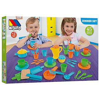 Molto Dinner Set 45 Piezas (Toys , Home And Professions , House , Kitchenware)
