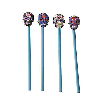 Attitude Clothing Day Of The Dead Pencil Topper