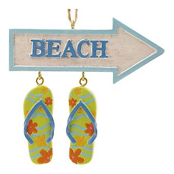 Flip Flop Parade Beach Resin Christmas Holiday Ornament Cape Shore