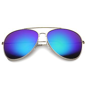Kvinners Aviator solbriller med UV400 beskyttet speilet linsen