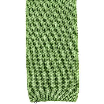 KJ Beckett Plain Cotton Tie - Lime Green