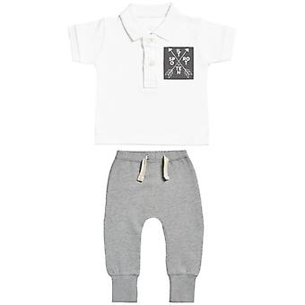 Spoilt Rotten Baby Polo T-Shirt & Baby Joggers Outfit Set