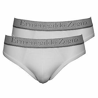 Ermenegildo Zegna 2-Pack Stretch Cotton Midi Briefs, White