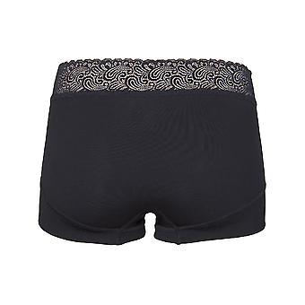 RJ Bodywear Pure Color Black Ladies Short Lace 31-011