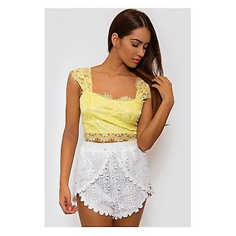The Fashion Bible Yellow Lace Bralet Top