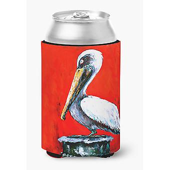 Bird - Pelican Red Dawn Can or Bottle Beverage Insulator Hugger