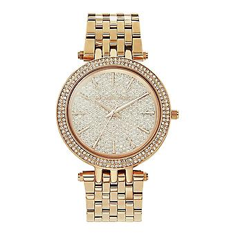 Michael Kors Watches Mk3439 Darci Embedded Crystal & Rose Gold Tone Stainless Steel Watch