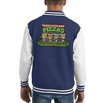 Teenage Mutant Ninja Pizzas Kid's Varsity Jacket