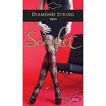 Scarlet By Silky Ladies/Womens Diamond String Tights (1 Pair)
